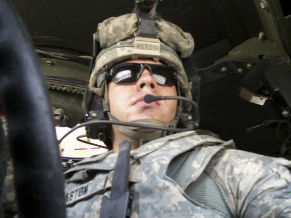 Army Reserve Spc. David Aston of Bangor returned home from Iraq with the 94th Military Police Company, based in Saco, in 2011. The unit spent 10 months training Iraqi police.