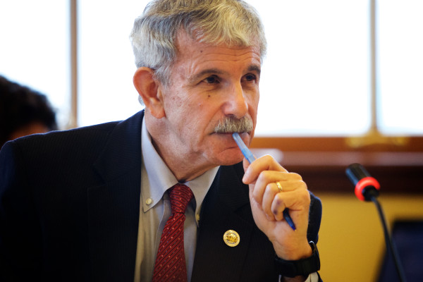 Republican Sen. Roger Katz of Augusta listens to testimony in a committee in this Dec. 9, 2014, file photo.