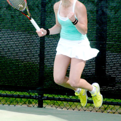 Hampden Academy senior seeks continued progress at state tennis singles playdown