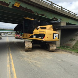 Department of Transportation repairing expansion joints in I-95 overpass in Fairfield