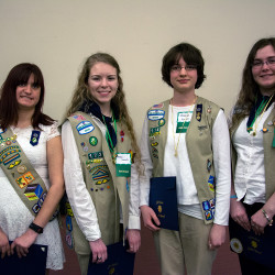 "Girl Scouts share ""pearls of wisdom"" by honoring three of their own"