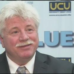 "University of Maine Black Bears Hockey Coach Dennis ""Red"" Gendron."