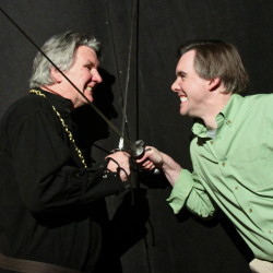 "Michael McFarland and Patrick Harris in ""I Hate Hamlet"""