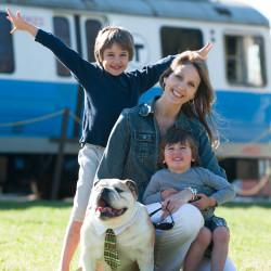 Family enjoying Dog Day at Seashore Trolley CA Smith Photography