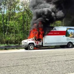 Truck fire shuts down New Gloucester toll plaza