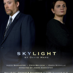 Jason Bannister and Crys Bruschi star in Skylight (photo courtesy of Leah Darcy)