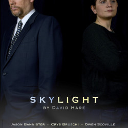 Jason Bannister (Tom) and Crys Bruschi (Kyra) in Skylight.
