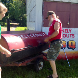Dozens feast at Belfast VFW pig roast