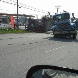 Trucks collide at busy Bangor intersection