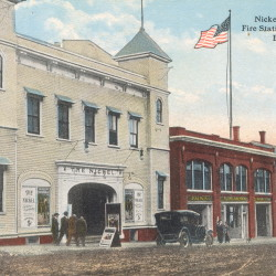 The Nickel Theater on Union Street, where boxing was a popular feature a century ago.