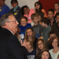 LePage brings anti-bullying, domestic violence message to John Bapst students