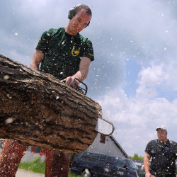 Lumberjack show offers amazing feats of strength, dexterity in Trenton