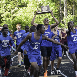 Edward Little girls, Brewer boys capture River City Rivals track titles