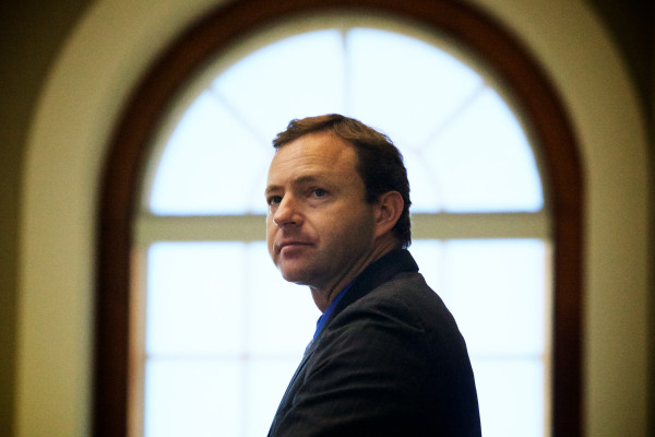 Democratic Speaker of the House Mark Eves oversees the 109-37 vote to override Gov. Paul LePage's veto of the state budget on Tuesday in Augusta.