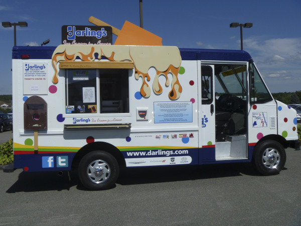 The Darling's Ice Cream for a Cause truck is seen in this Aug. 6, 2012, file photo.