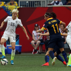 US women top Canada, Japan next for Olympic soccer gold