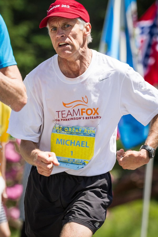 Michael Westphal of Great Cranberry Island competes in Saturday's The Great Run marathon on the island.