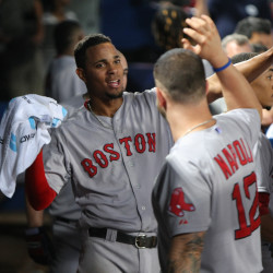 Bradley rallies Red Sox by Braves in four-run seventh