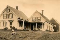 The Ruth Moore house on Gotts Island, Maine