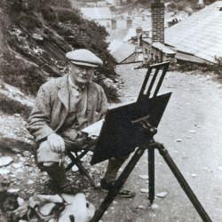The artist Frederic Stuart Richardson