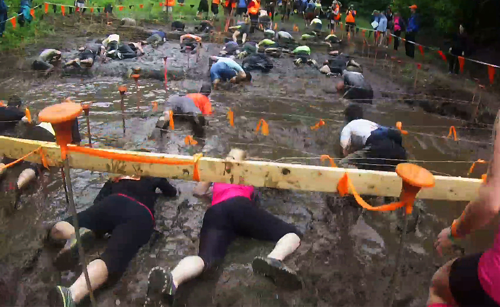 'Toughest event on the planet': Tough Mudder obstacle course draws more than 13,000 to Westbrook