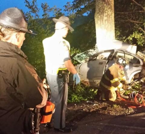 Vassalboro crash kills two during high-speed police chase