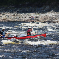 Celebrating the canoe race on a free-flowing Penobscot River I've waited all my life to see