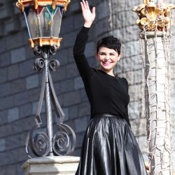 Ginnifer Goodwin waves to fans as she takes the stage at the grand opening of the New Fantasyland at Walt Disney World's Magic Kingdom, in this Dec. 6, 2012, file photo.
