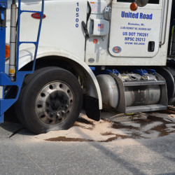 Police: Driver of truck that rolled Tuesday in Brunswick fell asleep at the wheel