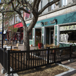 Outdoor seating is seen outside the Big Easy in downtown Bangor in this May 6, 2015, file photo.