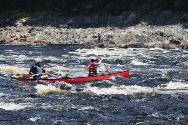The first Bashabez Run, a 15.5-mile canoe race from Indian Island to Brewer, was the first canoe race to the tide water of the Penobscot River since the removal of the Great Works and Veazie dams in this August 2014 file photo.