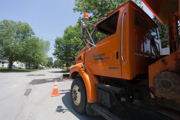 Jowett Street in Bangor undergoes construction Tuesday, July 14.