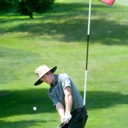 Class C boys golf champ Sam Grindle benefits from being lucky and good
