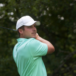 McLean overcomes windy conditions for lead at Greater Bangor Open golf tourney