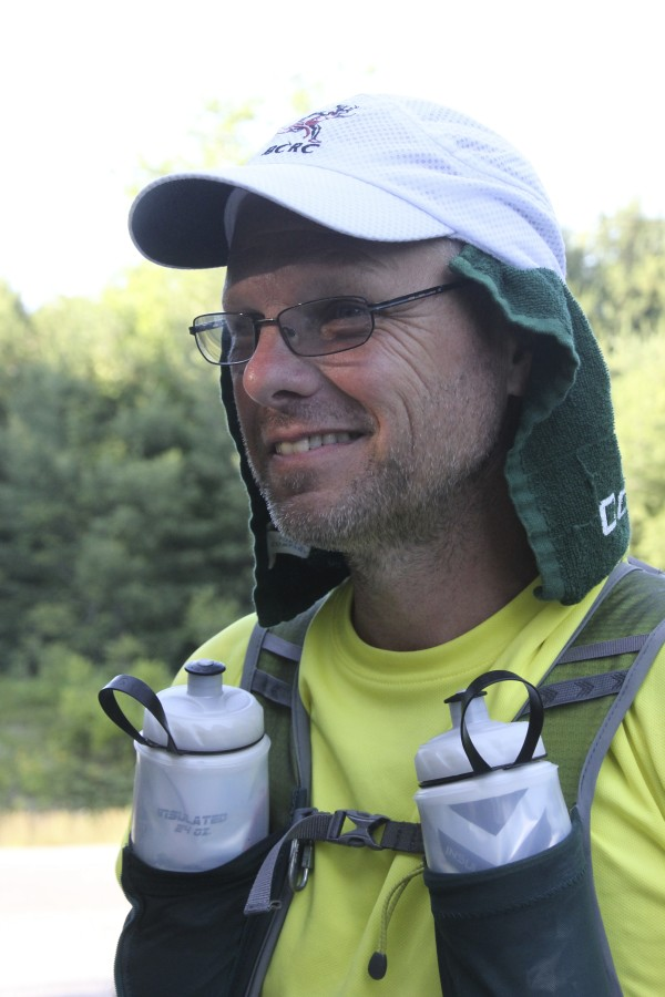 Stephen Moyer talks about his experiences on his run from St. Stephen, Canada, to Key West, Florida. He ran through Milbridge and Steuben Thursday and was headed to Ellsworth Friday.