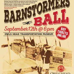 The Barnstormers Ball is the Museum's second annual evening fundraising gala. Don your glad rags and join us for a night of music, fine food and festivities inspired by the roaring '20s and set amongst the Museum's stunning collection of ground vehicles and aircraft. Tickets can be purchased at owlshead.org.