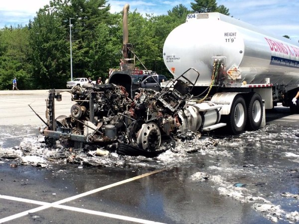 Fuel truck cab destroyed in Yarmouth fire — Portland — Bangor Daily News — BDN Maine