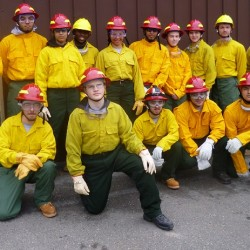 Penobscot Job Corps Center students participate in Hot Shots Field Training with the Maine Forest Service.