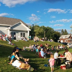July 23, 2015 attendees enjoyed a picnic and concert on the site of the Orono Village Green.