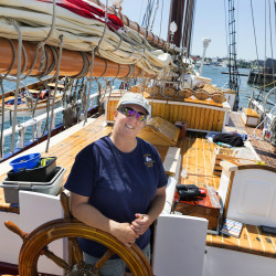 Rockland couple begins 30th year of sailing passengers around Penobscot Bay on schooner Heritage