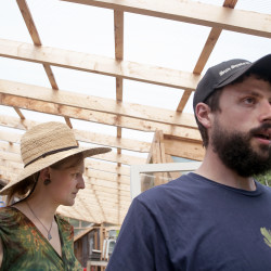 Heather Omand and her husband, Tyler Omand, work with the patterns in the ecosystem around their Omand's Organics farmstead in Greenbush. They shaped their land, grow vegetables and raise ducks, chickens and guinea fowl following permaculture standards. The method is conscious design and maintenance of agricultural ecosystems in a sustainable way.
