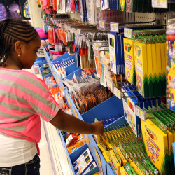 Children excluded from school shopping?