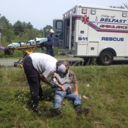 LifeFlight called after motorcyclist plunges 30 feet over embankment in Thomaston