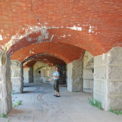 A picturesque island fort off Portland is getting some much-needed safety upgrades