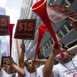 Raise the minimum wage, expand tax credit for working families