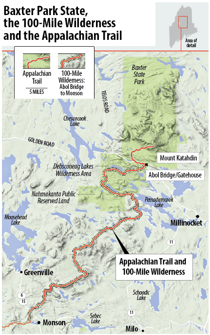 Appalachian Trail New England Map.Rise In Appalachian Trail Hikers Causes Tension In Baxter State Park