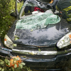 Two injured in East Machias crash
