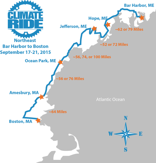 Northeast Harbor Maine Map.New Bar Harbor Boston Bike Ride To Support Green Causes Outdoors