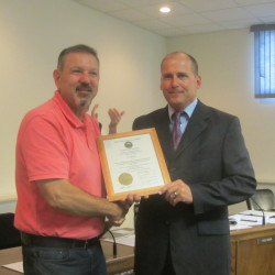 Rockland council honors fireman