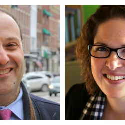 Bangor City Councilor Joe Baldacci and former Maine Senator Emily Cain of Orono, the announced 2016 Democratic candidates for Maine's 2nd Congressional District.